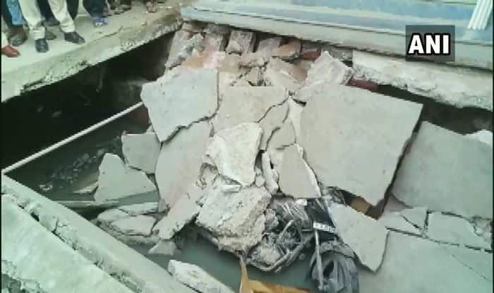 Footpath collapse