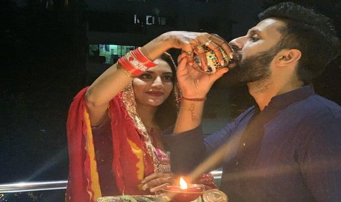 After Durga Puja, 'God's Special Child' Nusrat Jahan Celebrates First Karwa Chauth With Husband Nikhil Jain | See Pictures