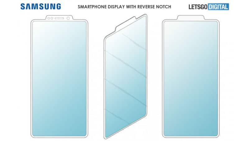 Samsung patents reverse notch design for smartphone display