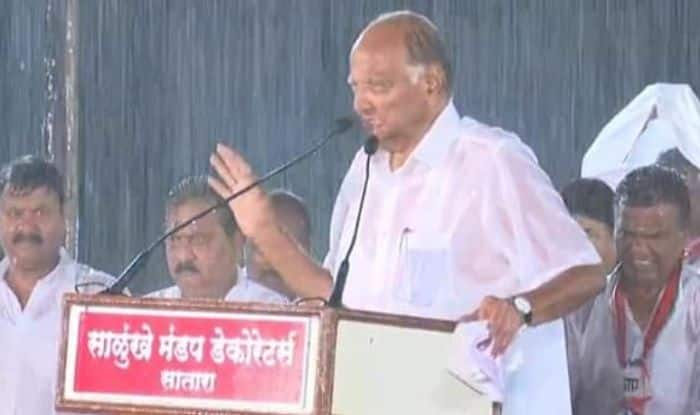 Maharashtra Assembly Election 2019: Drenched in Rain, Sharad Pawar Admits NCP's 'Mistake' in Satara