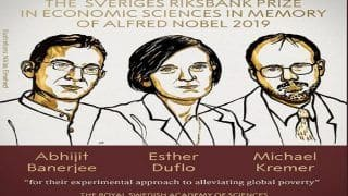 Nobel Prize 2019 For Economics Awarded to Abhijit Banerjee, Two Others