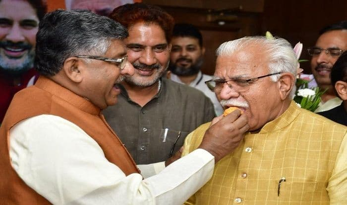 Great Diwali in Haryana as ML Khattar Set to Take Oath as CM, JJP's Dushyant to Become His Deputy Today   10 Points