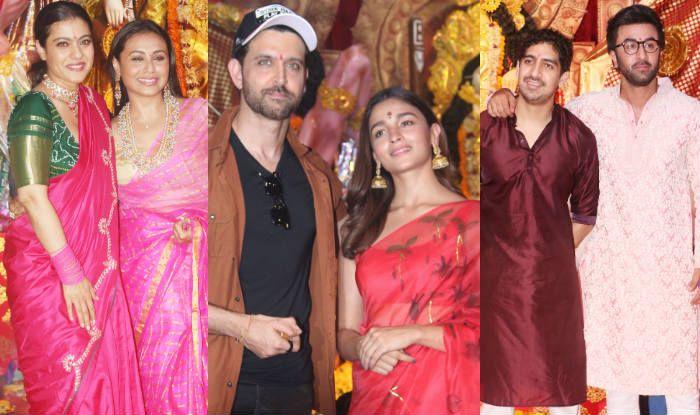 Durga Puja 2019 Pics: Kajol-Rani Mukerji Look Fab, Alia Bhatt-Ranbir Kapoor Join Celebrations With Hrithik Roshan And Ayan Mukerji