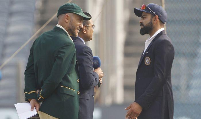 faf du plessis virat kohli toss test cricket photo