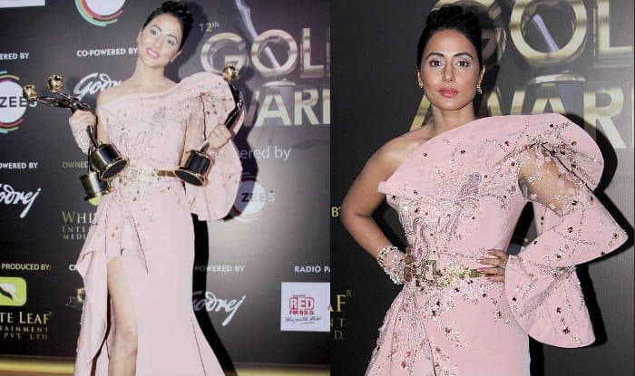 Hina Khan Looks Sexy in Her Pink Gown at Gold Awards 2019 But What's Wrong With Her Makeup?