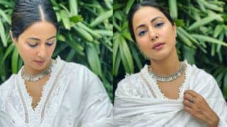 Hina Khan Looks Ethereal in Her White Chikankari Suit And That Blue Eye-Liner is a Winner – Viral Photos