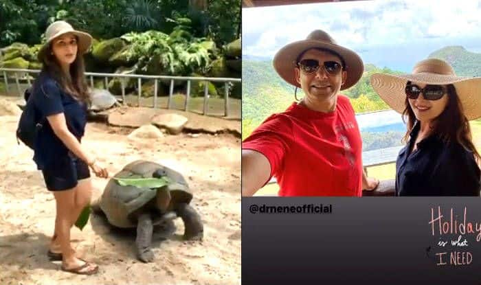 Viral Photos: Madhuri Dixit Enjoys The Best of Wildlife And Beaches on Family Vacation to Seychelles