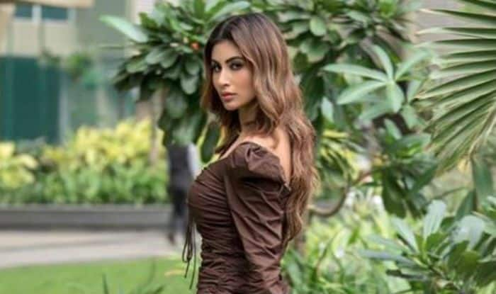 Mouni Roy Ditches Traditional Wear And Raises The Temperature in Sexy Brown Dress- Check Pics