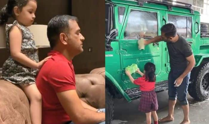 After Washing Big Vehicle, MS Dhoni Gets a Relaxing Back Massage From Daughter Ziva- Watch Video