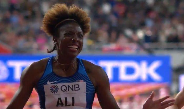 'Supermom' Nia Ali Claims 100m Hurdles Gold at The World Athletics Championships