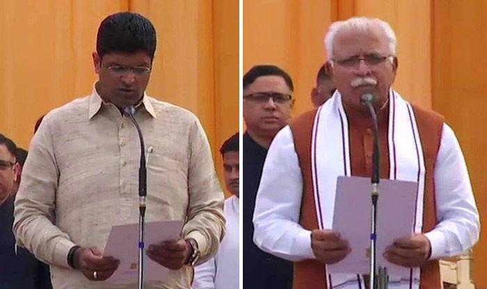 Haryana Swearing-in Ceremony: Manohar Lal Khattar Takes Oath as CM, Dushyant Chautala as Deputy CM