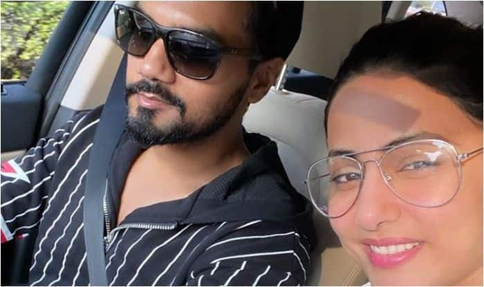 Hina Khan Kissing Beau Rocky Jaiswal Right in The Middle of Car Ride Sets Fans Gushing Over Viral Picture