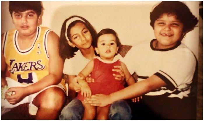 Arjun Kapoor, Rhae Kapoor, Janhvi Kapoor and Anshula Kapoor in a throwback picture