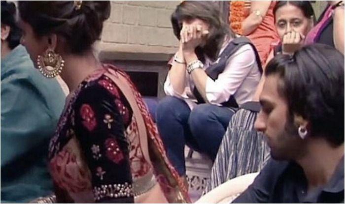 Deepika Padukone and Ranveer Singh on the sets of Ram Leela