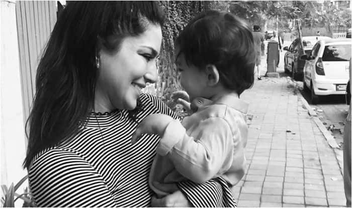 Sunny Leone with her son