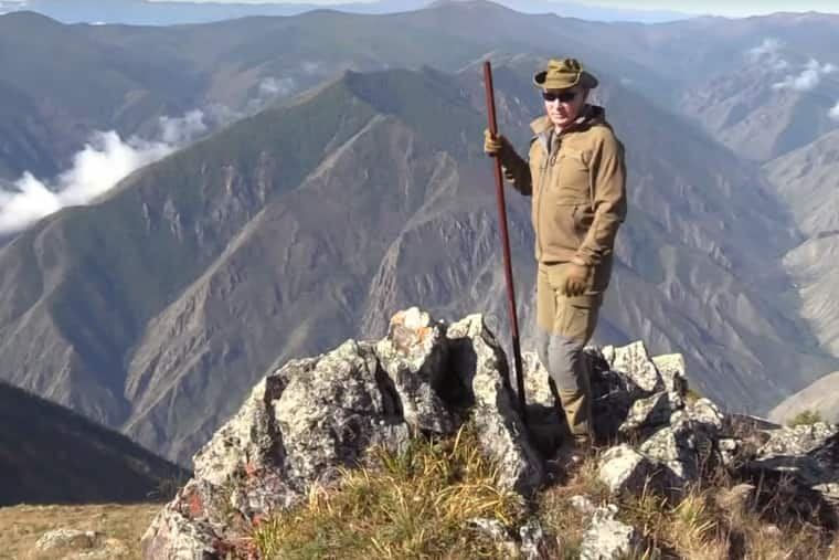 Watch: Putin Explores The Great Outdoors As He Hikes in Siberian Wilderness Ahead of His Birthday