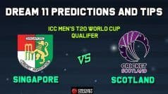 SIN vs SCO Dream11 Team Prediction: Captain And Vice Captain For Today