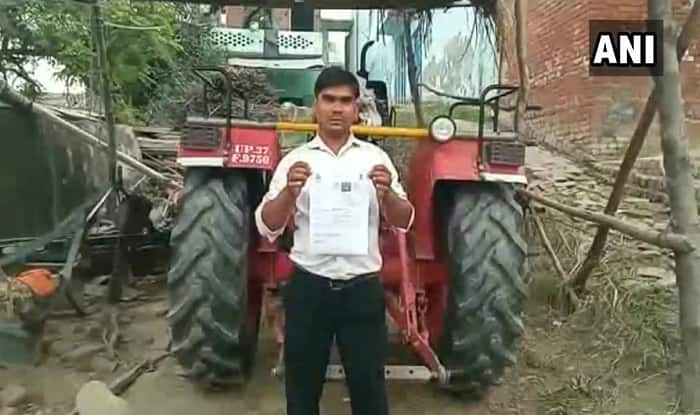 Motor Vehicle Amendment Act: Tractor Driver Issued Challan For Not Wearing Helmet in Uttar Pradesh, Police Call it 'Typographical Error'