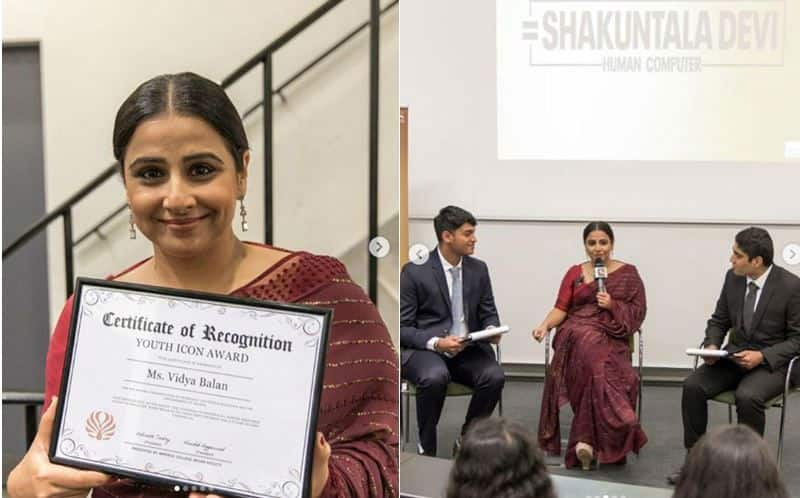 Vidya Balan is All Smiles After Receiving Youth Icon Award From The Imperial College London