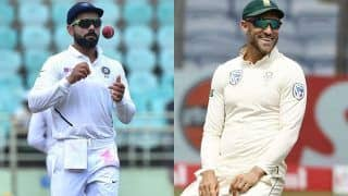 India vs South Africa 2019 3rd Test, Live Cricket Score: Rohit's Hundred, Rahane's Fifty Give India Honours on Day 1 vs South Africa