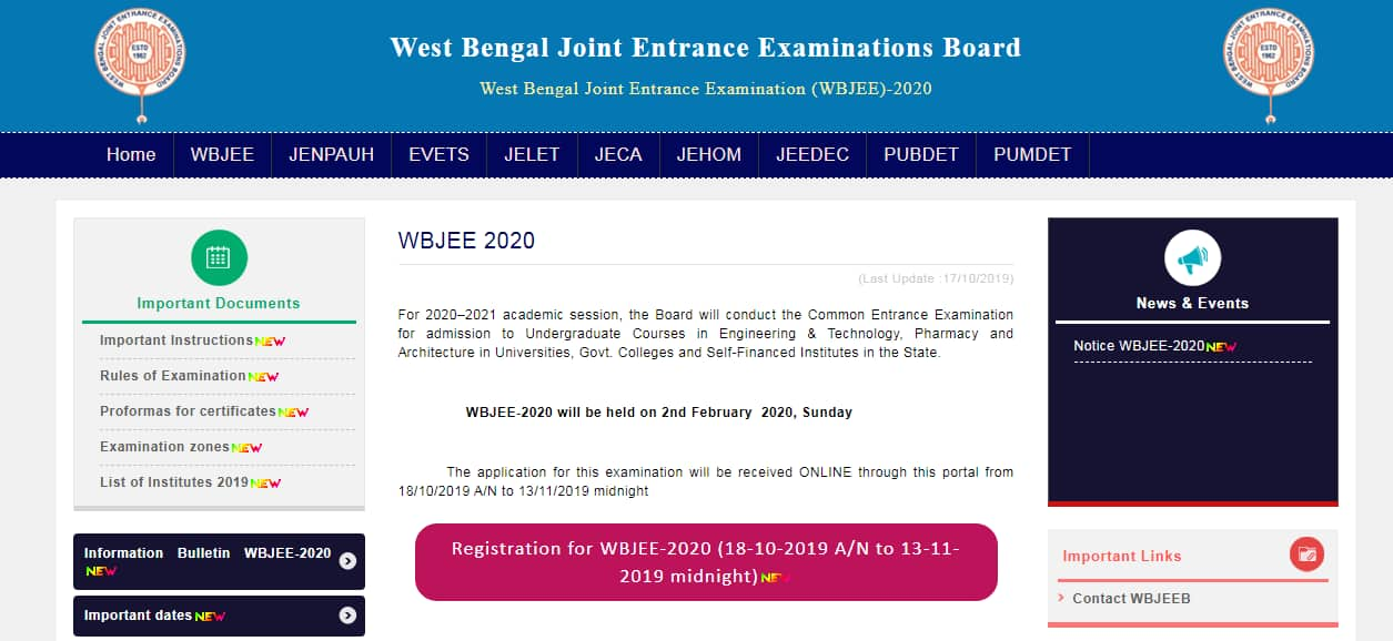 WBJEE 2020 Application Process Begins Today, Check Exam Date and Eligibility