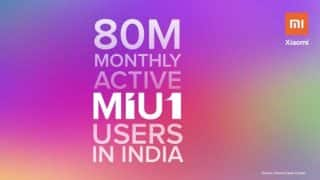 Xiaomi's MIUI has 80 million monthly active users in India