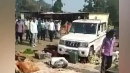 Outrage After Govt Official's SUV Crushes Farmer's Vegetables At a Market in UP's Hapur | Watch