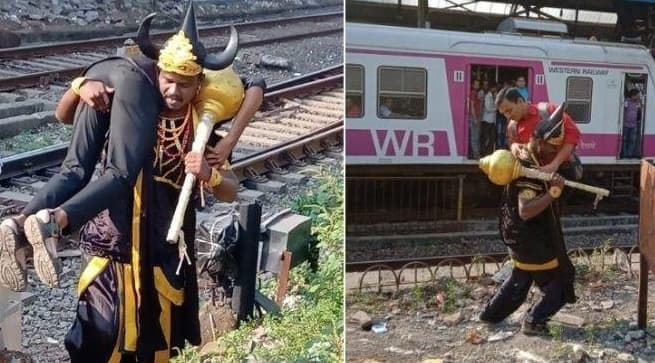 Get Ready to Meet 'Yamraj' If You Trespass on Railway Tracks in Mumbai