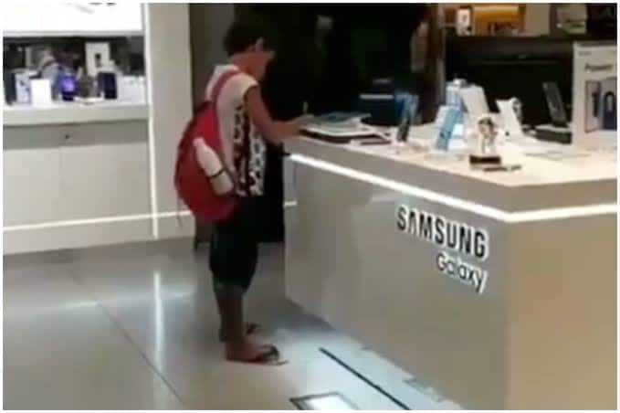This Boy Didn't Have Internet Access, So Employee Lets Him Finish Homework on Shop's Tablet | Watch