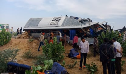 Rajasthan: 10 Killed, Over 20 Injured in Collision Between Bus & Truck in Bikaner