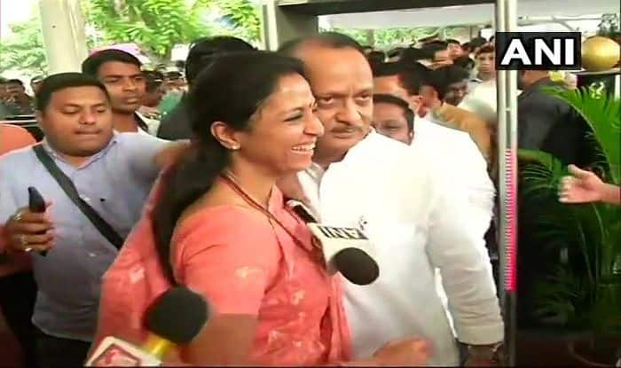 Back Home? Ajit Pawar Shares Hug With Cousin Supriya Sule at MLAs' Oath-Taking Ceremony | Watch