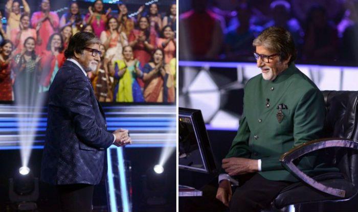 Amitabh Bachchan on sets of KBC 11
