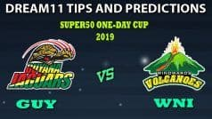 GUY vs WNI Dream11 Team Prediction Super50 Cup 2019