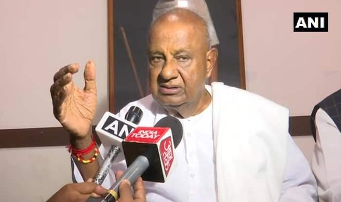 Janata Dal (Secular) chief HD Deve Gowda. Photo: ANI