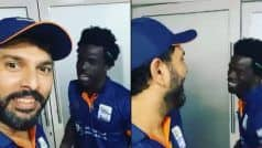 Yuvraj Singh in Splits After T10 League Teammate Chadwick Walton Speaks in Punjabi