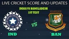 Live Score and Updates: India vs Bangladesh, 1st Test: India In Command After Knocking Over Bangladesh For 150