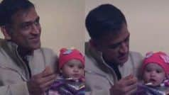 WATCH: Dhoni Feeding Baby Girl on Her 'Annaprashana' is Breaking The Internet