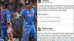 'Har Jaga Politics': Gambhir Trolled After Blaming Dhoni For Missing Ton in 2011 WC Final| POSTS