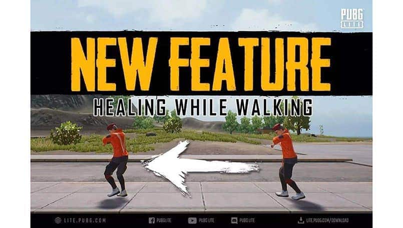 PUBG Lite players can heal themselves while walking now