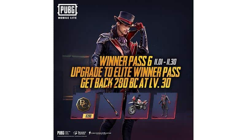 PUBG Mobile Lite has a new Winner Pass 6