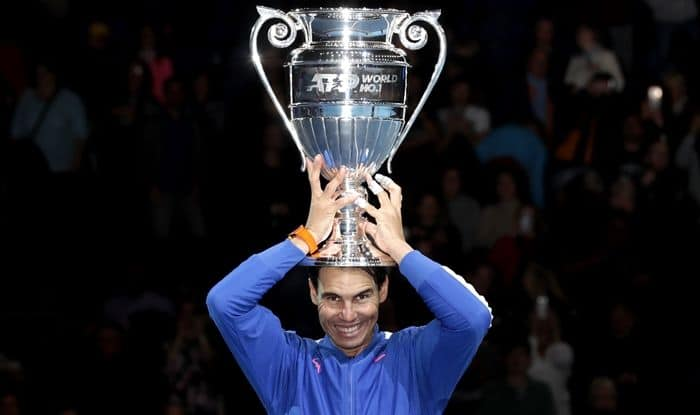 Rafael Nadal Equals Roger Federer Novak Djokovic With Fifth Year End Number One Ranking India Com Sports Tennis News
