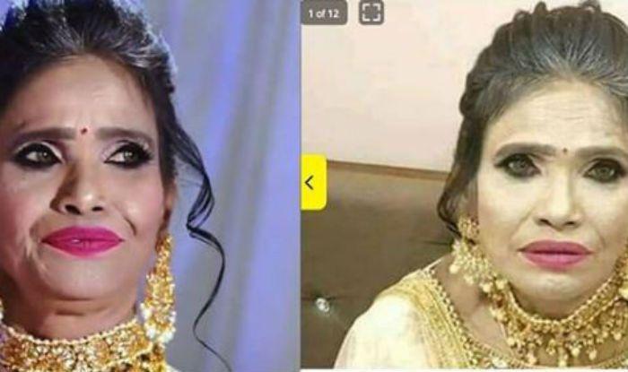 रानू मंडल की मेकअप पुते हुए जिस फोटो का मजाक उड़ा रहे थे आप, वो फेक है, सही ये है!