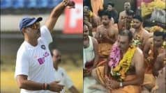 WATCH: Shastri Offers Prayer at Mahakaleshwar Temple Ahead of Pink Test