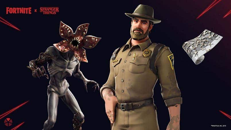 Fortnite brings back Chief Hopper and Demogorgon Outfits for Stranger Things Day