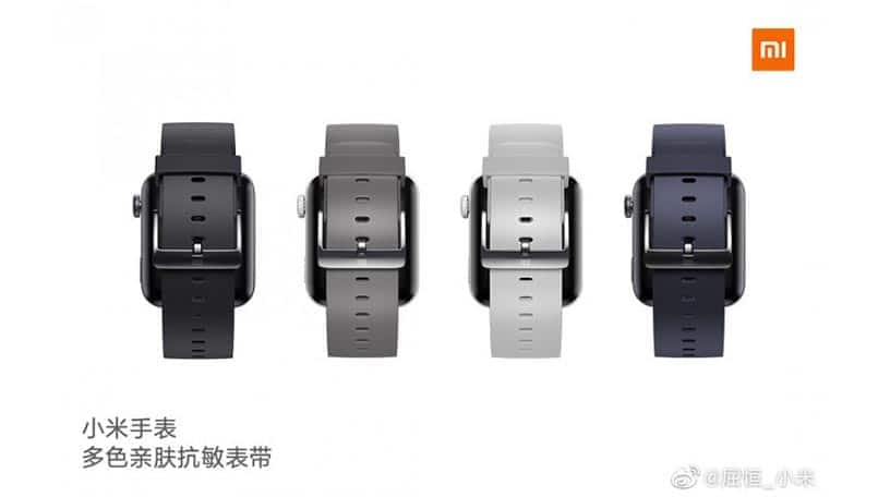 Xiaomi Mi Watch strap colors out ahead of launch
