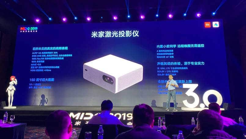 Xiaomi Laser Projector launched; features MIUI, 8K video decoding and more