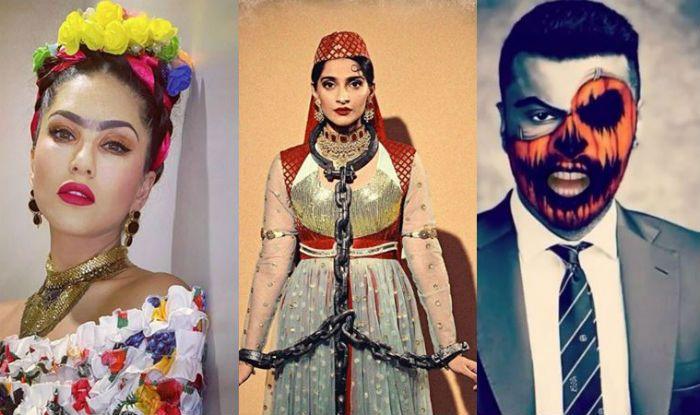 Halloween 2019: Sonam Kapoor-Anand Ahuja as Anarkali-Salim, Sunny Leone-Daniel Weber as Frida and Sid, Check Who Wore What