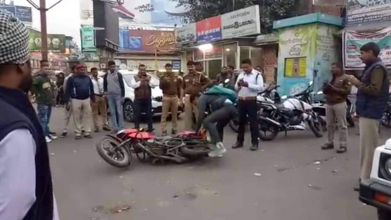 Watch | Meerut Youth Throws Bike, Cries In Middle of the Road After Challan Is Issued