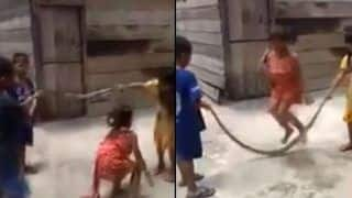 Viral Video Shows Children Joyfully Playing With Dead Snake, Using it as Skipping Rope