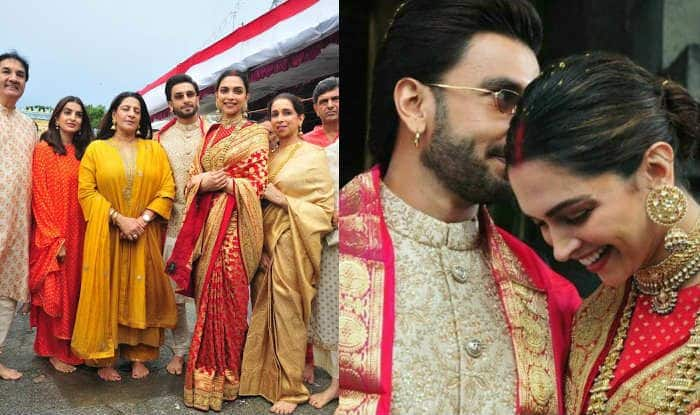First Pictures: Deepika Padukone And Ranveer Singh Look Dreamy at Tirupati Temple With Family